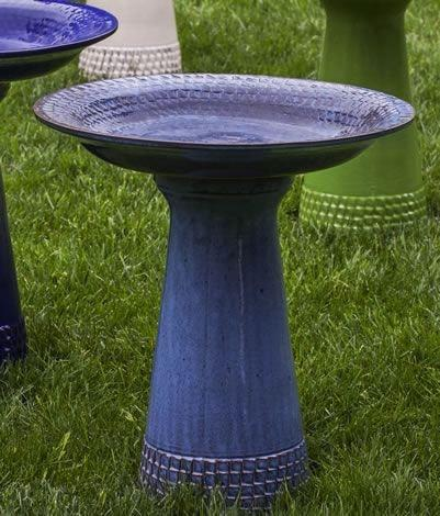 Image of Campania International Tattersall Birdbath Life on Plum