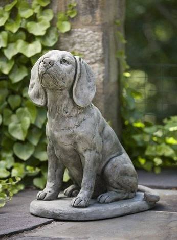 Campania International Scout the Dog Statue Life on Plum