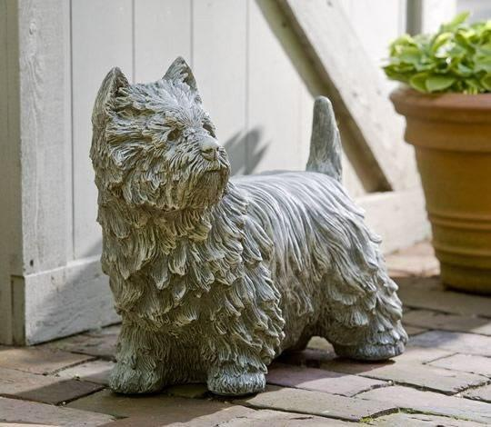 Campania International Westie the Dog Statue Life on Plum