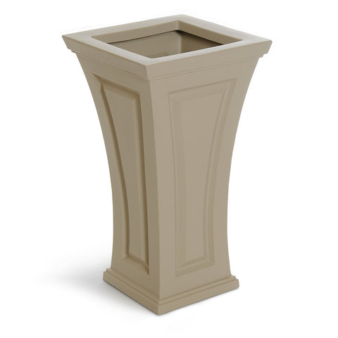 Image of Cambridge Tall Planter Clay By Mayne Life on Plum