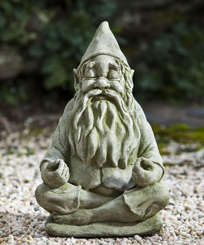 Image of Campania International Big Fred Totally Zen Gnome Statue Life on Plum