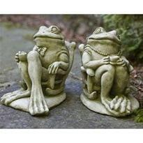 Image of Campania International Coffee Frog Statue Life on Plum