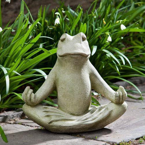 Image of Campania International Totally Zen Too Frog Statue Life on Plum