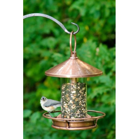 Classic Perch Bird Feeder - Copper Finish by Good Directions