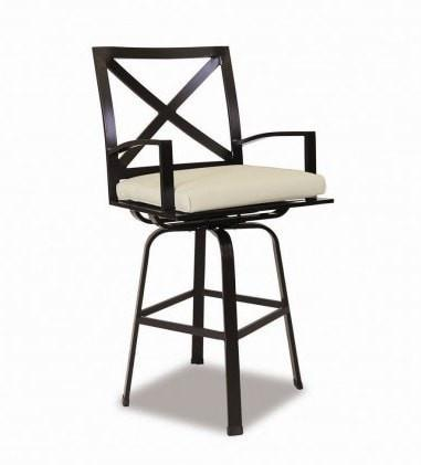 Sunset West La Jolla Outdoor Swivel Barstool with Cushion