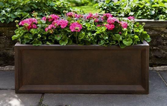Campania International Denbigh Window Box Set of 3 in Rust Lite Life on Plum