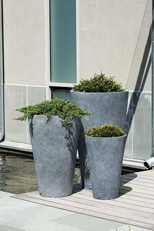 Image of Campania International Vallarella Tall Planter Set of 3 The Garden Gates