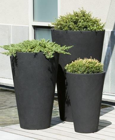 Campania International Vallarella Tall Planter Set of 3
