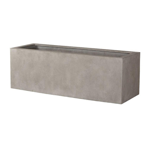 Campania International Big Box Planter in Concrete Lite Life on Plum