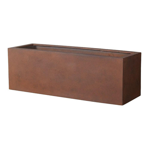 Campania International Big Box Planter in Rust Lite Life on Plum