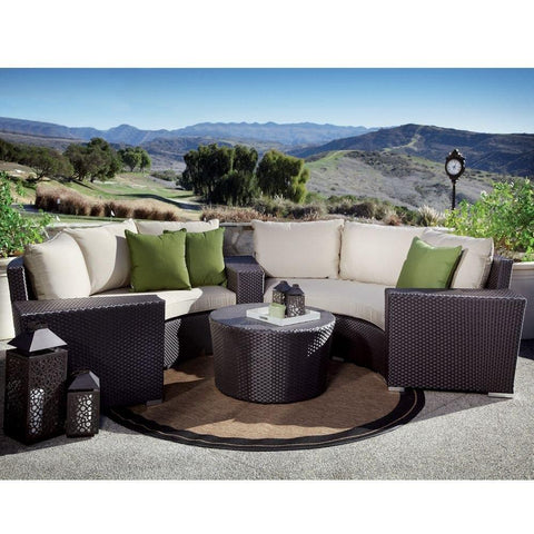 Solana 32 inch Round Coffee Table by Sunset West Life on Plum