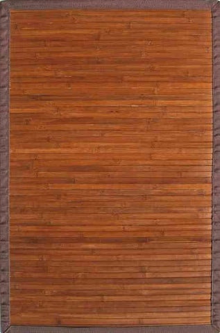 Contemporary Chocolate Bamboo Rug Life on Plum