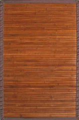 Anji Mountain Contemporary Chocolate Bamboo Rug