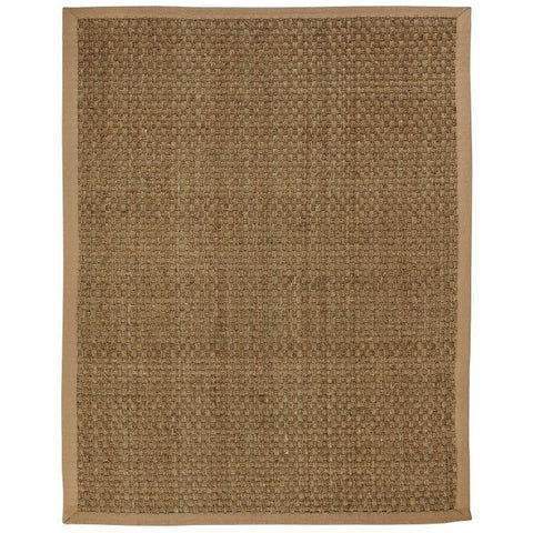 Moray Seagrass Rug By Anji Mountain Life on Plum