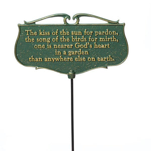 The Kiss of the Sun... - Garden Poem Sign Life on Plum