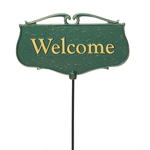 Welcome - Garden Poem Sign Life on Plum