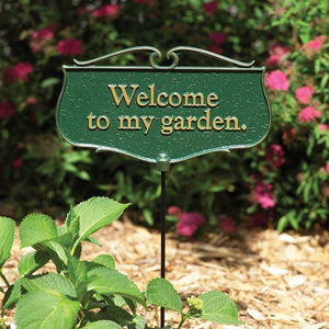 Welcome to my Garden - Garden Poem Sign Life on Plum