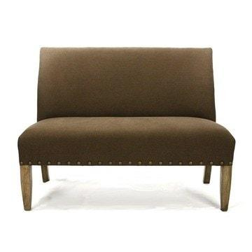 Image of Zentique #100 Brown Bench Life on Plum