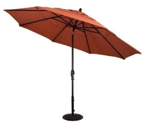 Treasure Garden 11ft Aluminum Auto Tilt Umbrella Life on Plum