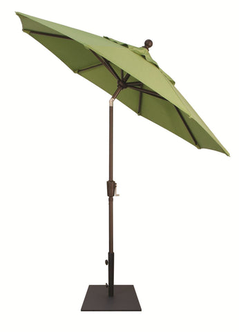 Treasure Garden 7.5ft Aluminum Push Button Tilt Umbrella Life on Plum