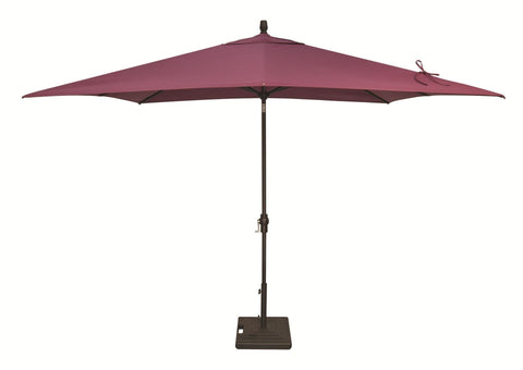 Treasure Garden 8ft x 10ft Aluminum Auto Tilt Umbrella Life on Plum