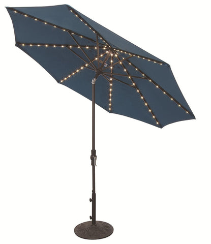 Image of Treasure Garden 9ft Starlight Umbrella Life on Plum