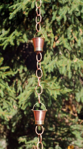 Good Directions Pails Rain Chain in Brushed Copper