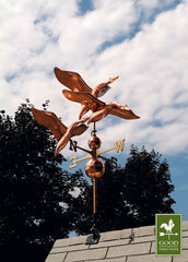 "42"" 3 Geese in Flight Estate Weathervane - Polished Copper by Good Directions-Life on Plum by Good Directions, Inc."
