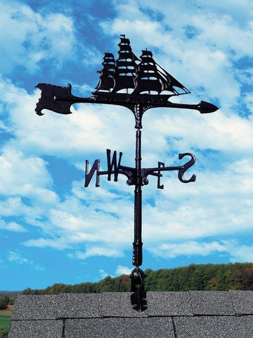 Image of 30-inch Clipper Accent Weathervane By Whitehall Products Life on Plum