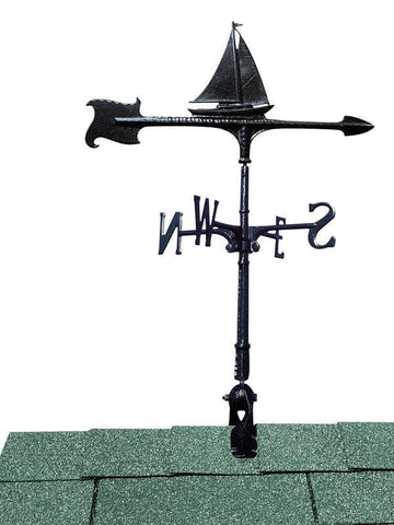 Image of 30-inch Sailboat Accent Weathervane By Whitehall Products Life on Plum