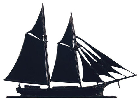 Image of 30-inch Schooner Garden Weathervane By Whitehall Products Life on Plum