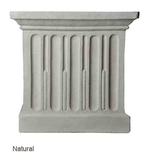 Campania International Williamsburg Jefferson Planter On Jefferson Pedestal Life on Plum