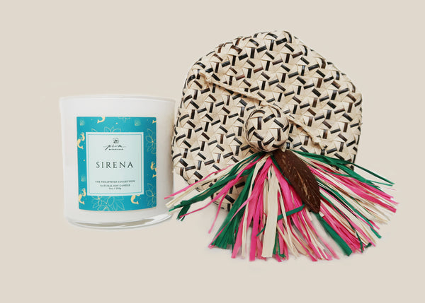 Sirena Candle in Palm Leaf Box