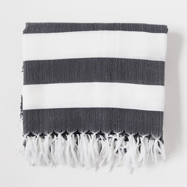 Inabel Square Throw - Black