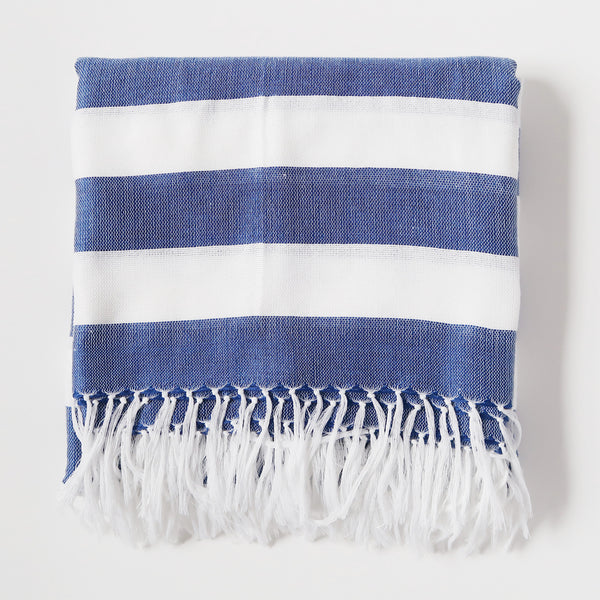 Inabel Square Throw - Blue
