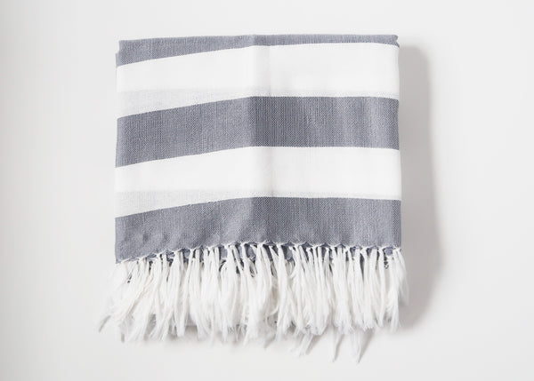 Inabel Square Throw - Gray
