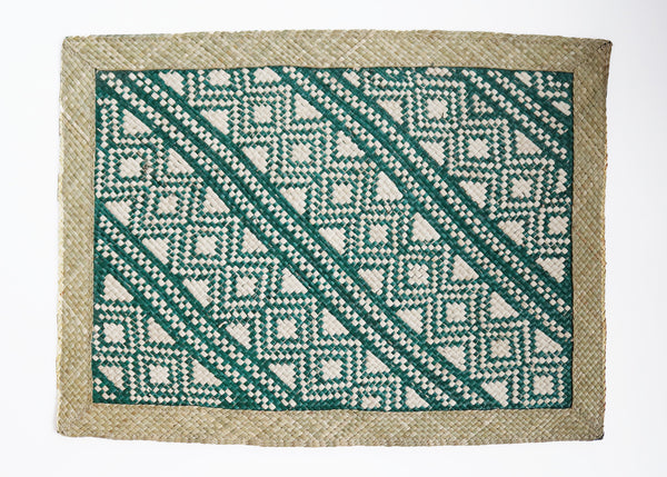 Woven Placemat - Green/Natural