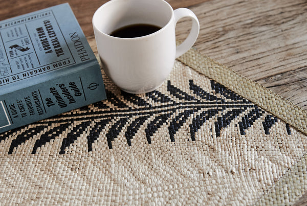 Woven Placemat - Black/Natural