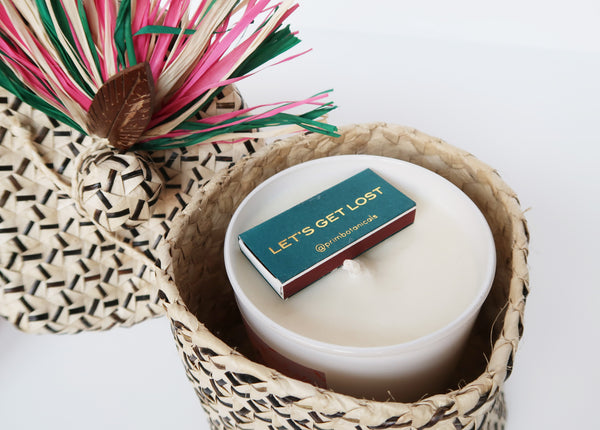 Isle of Flowers Candle in Palm Leaf Box