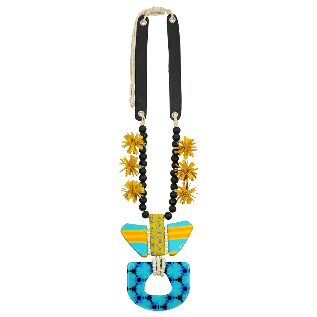 Blue & Yellow Necklace