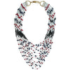 Black, White & Red Crystal Necklace w/ Cultured Pearls