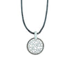 Gunmetal Necklace w/ Silver Pendant