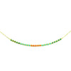 Gold necklace w/ multicolored miyuki beads