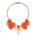 Peach & Orange Necklace