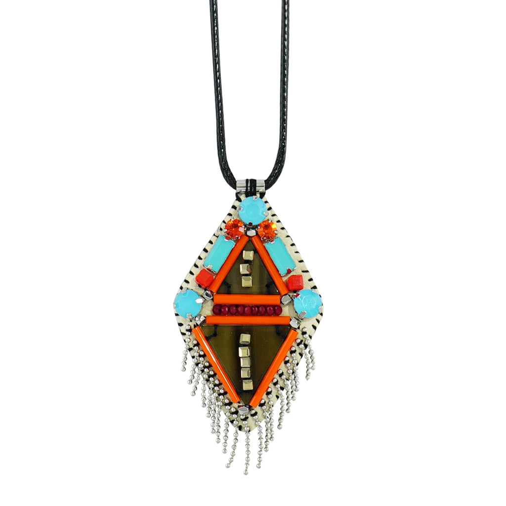 Multicolored Necklace w/ Pendant