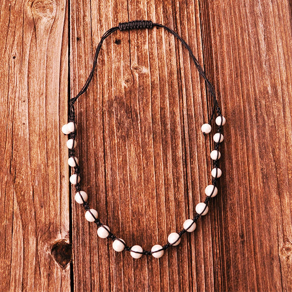 Black Necklace with Pearls