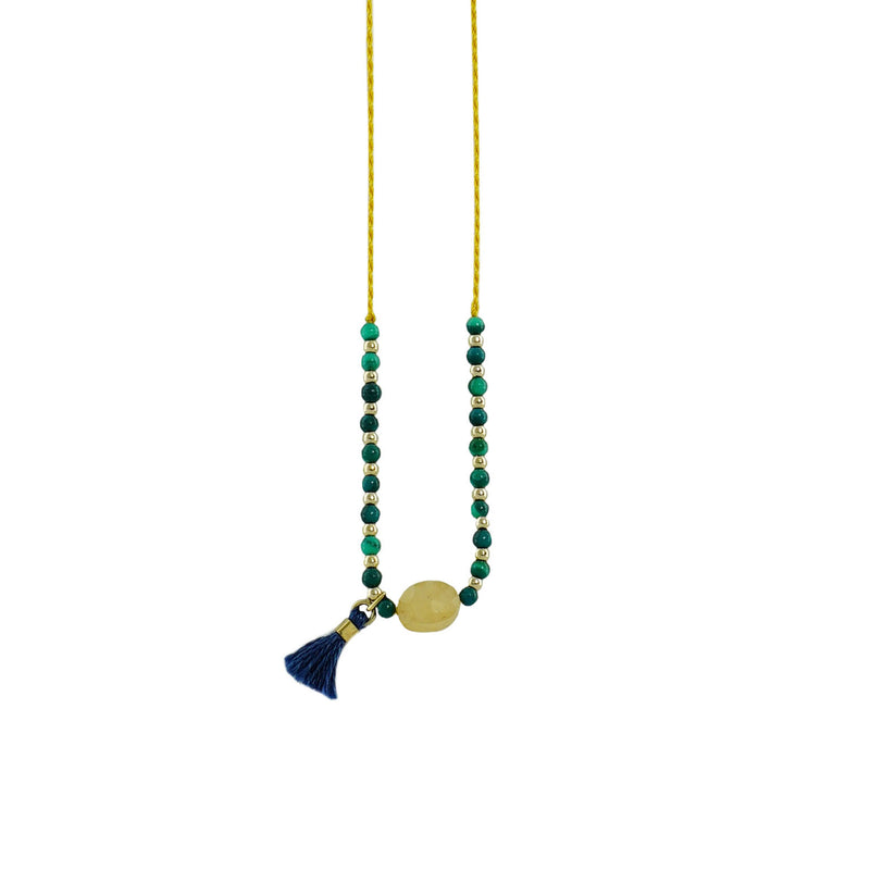 Yellow & Green Necklace