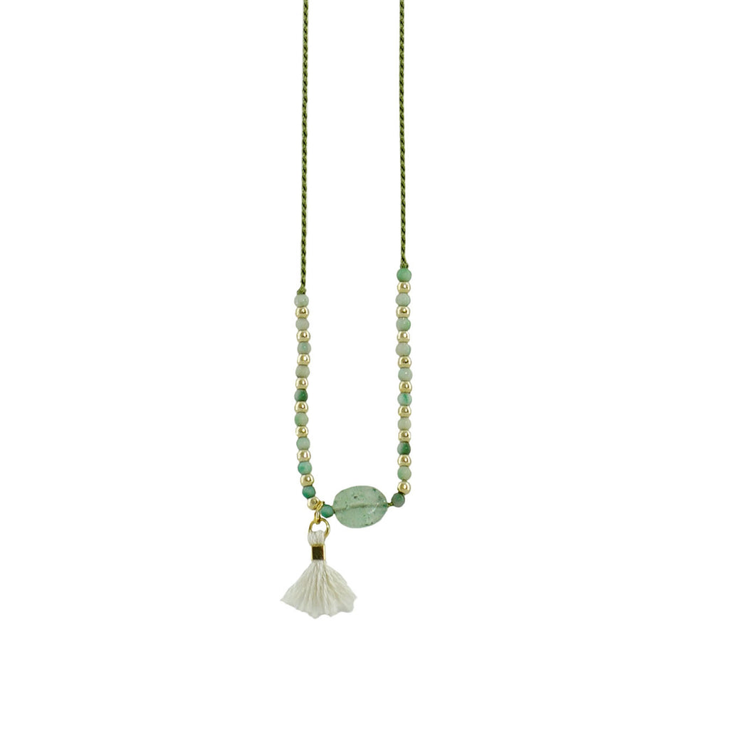 Green Necklace w/ Golden details