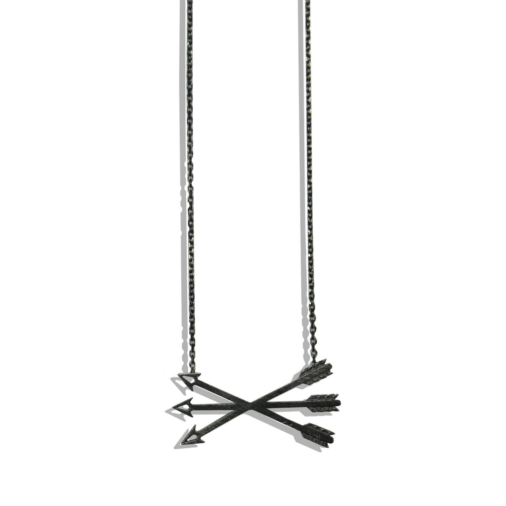 Gun Metal Necklace with Arrow