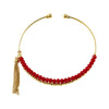 Golden Bracelet w/ Red Crystals